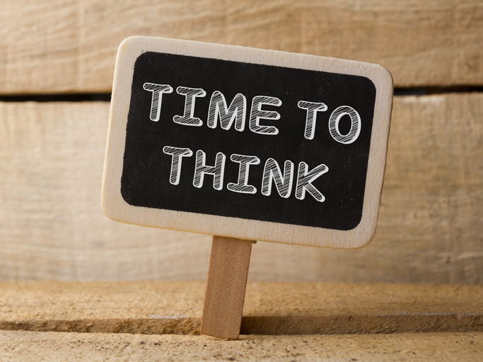 Time to think sign